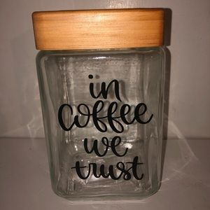 Coffee glass canister
